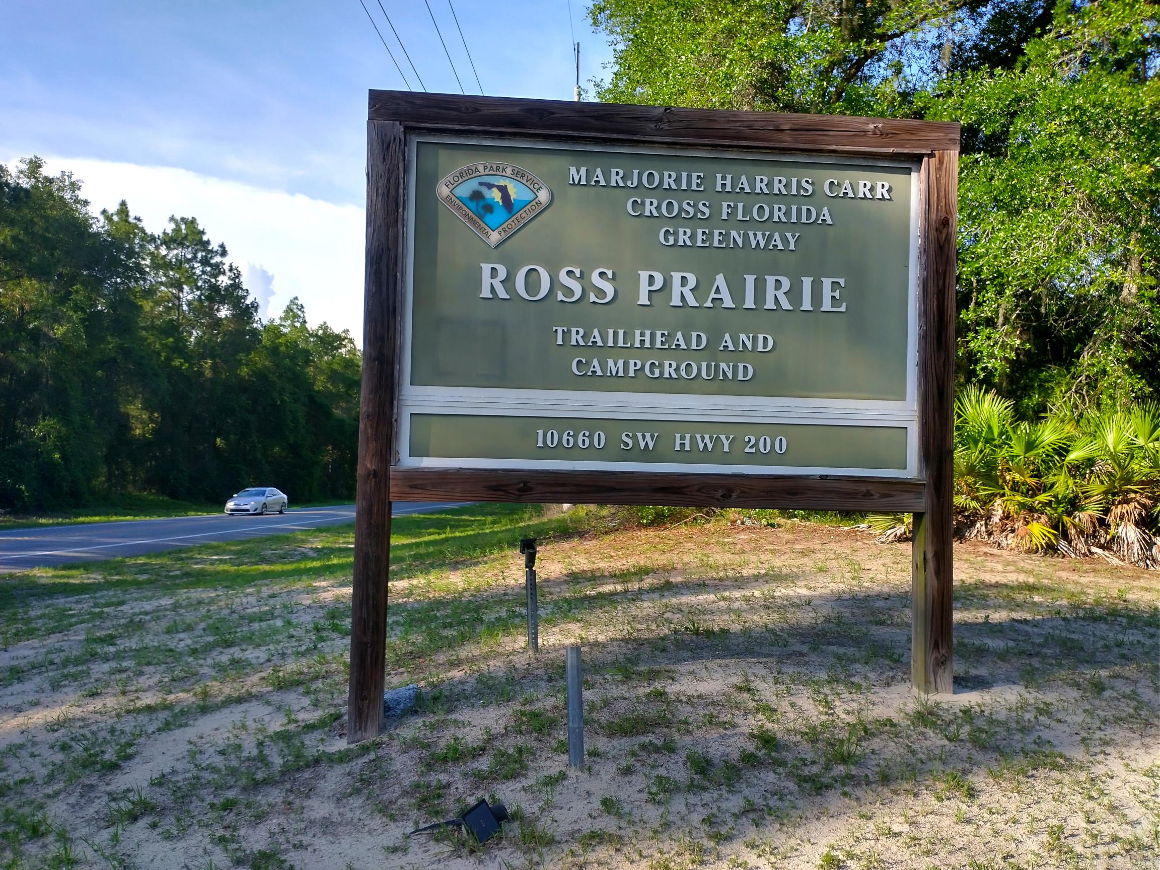 Ross Prairie Road Sign